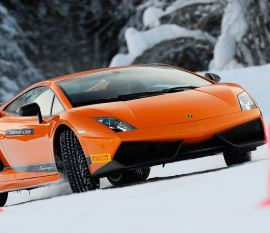 Lamborghini Ice Driving